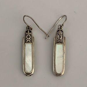 Vintage Sterling Silver Mother of Pearl Earrings